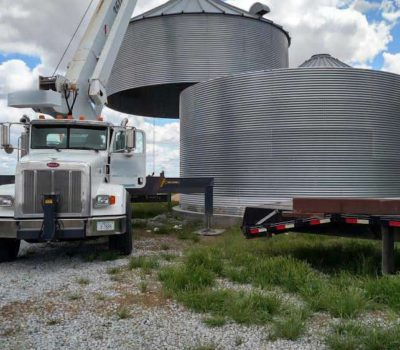 Moving a Grain Bin